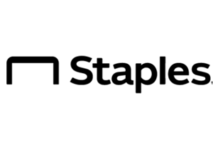 the logo for staples